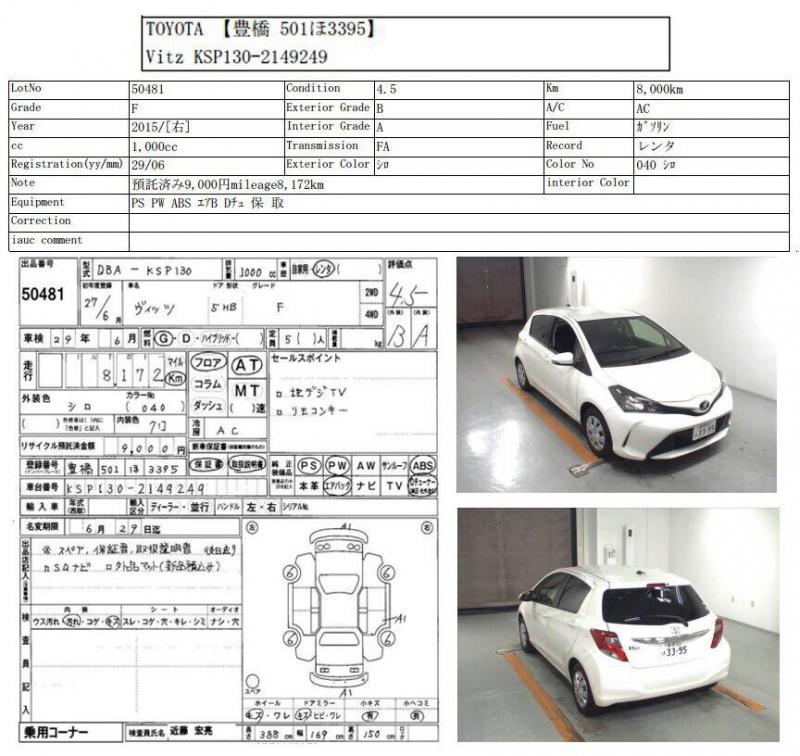 car toyota vitz 2015 karachi 26797