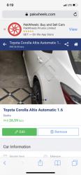 Car Toyota Corolla 2018 Daska